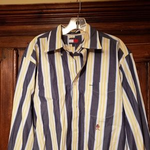Tommy Hilfiger Men's Striped Casual Shirt size M